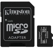 Kingston Micro SDHC Canvas Select Plus 32GB 100MB/s UHS-I + adaptér - SDCS2/32GB