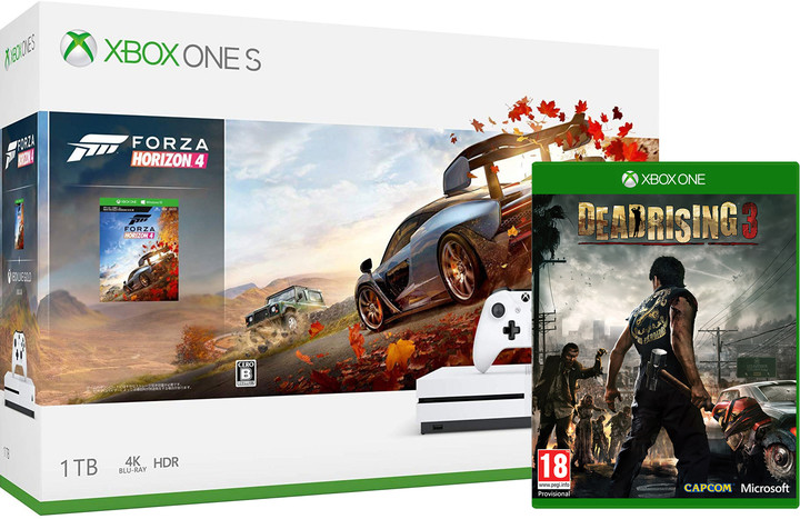 XBOX ONE S, 1TB, bílá + Forza Horizon 4