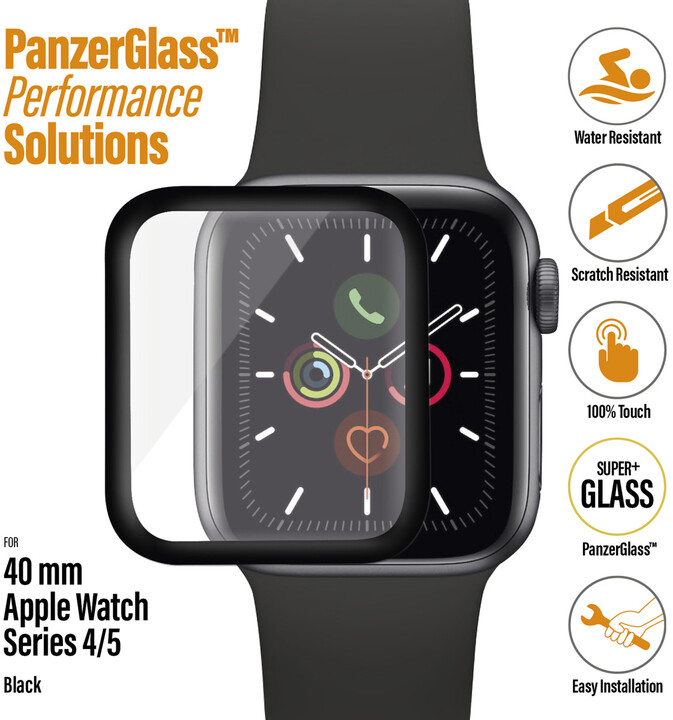 PanzerGlass SmartWatch pro Apple Watch 4/5/6/SE 40 mm, černé celolepené
