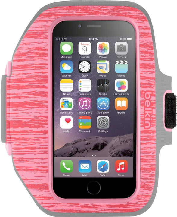Belkin Sport Fit Plus Armband pouzdro pro iPhone 6/6s, camelia pink/petal pink