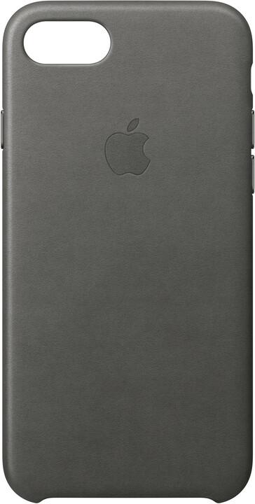 Apple Kožený kryt na iPhone 7/8 – bouřkově šedý