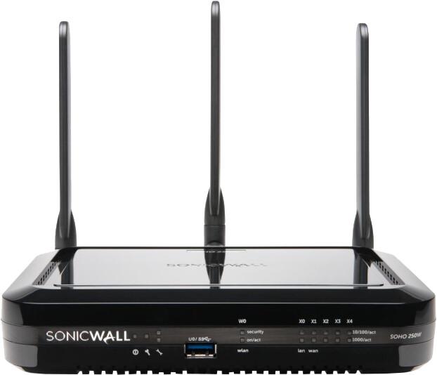 SonicWall SOHO 250 Wi-Fi, Dual-band, Total Secure na 1 rok