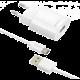 FIXED síťová nabíječka s odnímatelným USB-C kabelem, 2,4A, bílá