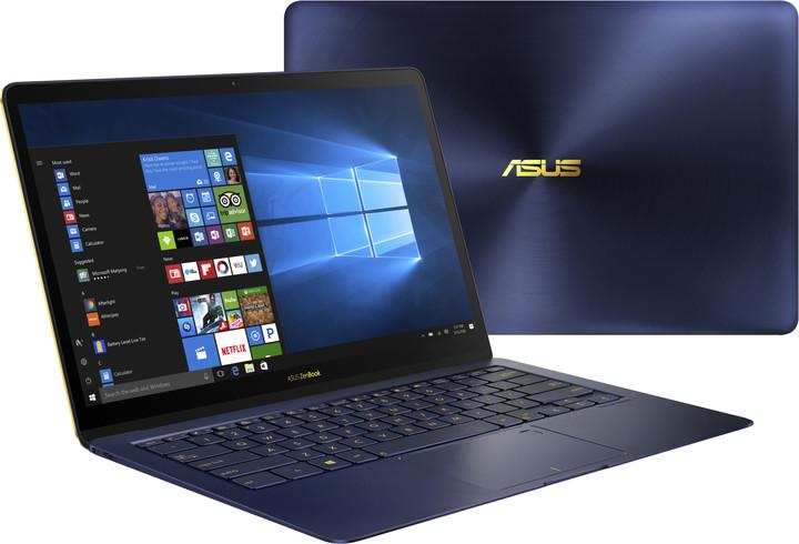 ASUS ZenBook 3 Deluxe UX490UA, modrá