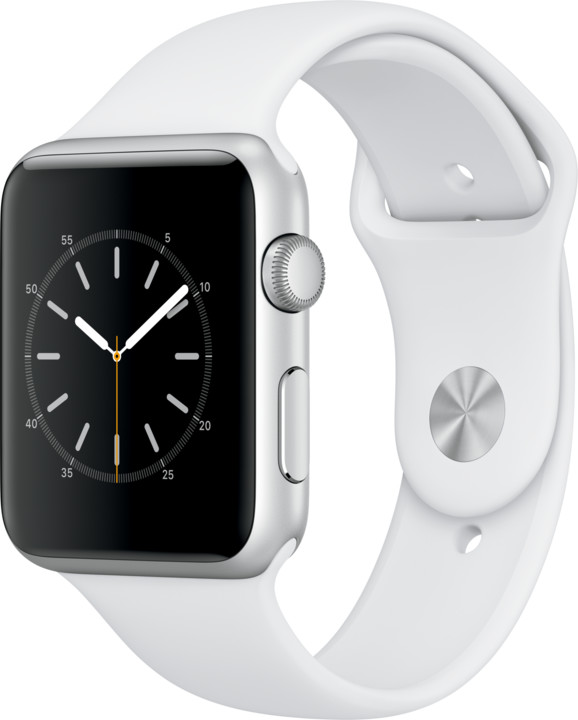 Apple Watch 42mm Silver Aluminium Case with White Sport Band