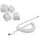 Razer PBT Keycap + Coiled Cable Upgrade Set, Mercury White