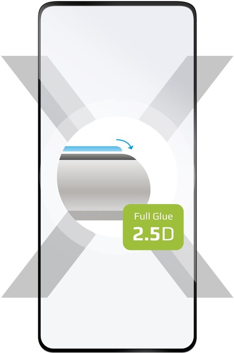 FIXED ochranné tvrzené sklo pro OnePlus 8T, Full-Cover, 2.5D, černá