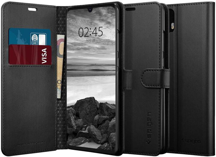 Spigen Wallet S, saffiano pro Huawei P30 Pro, černá