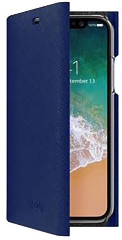 CELLY Pouzdro typu kniha Shell pro Apple iPhone X, modré