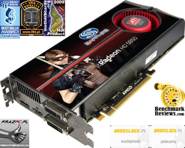 Sapphire HD 5850 (21162-00-40R) 1GB, PCI-E