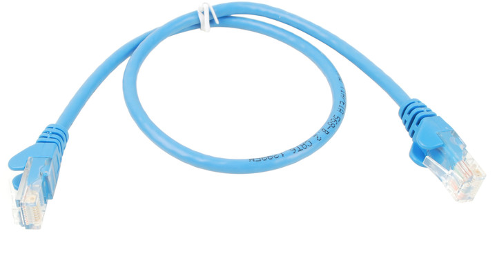 UTP kabel rovný kat.6 (PC-HUB) - 0,5m, modrá