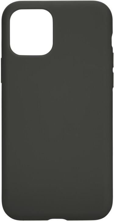 Tactical silikonový kryt Velvet Smoothie pro Apple iPhone 11 Pro, šedo-zelená