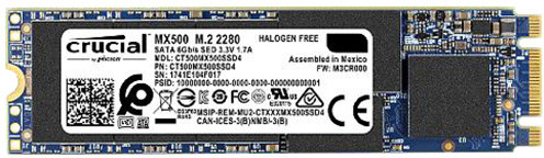 CRUCIAL MX500, M.2 - 500GB