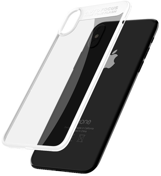 Mcdodo iPhone X Dual Clear Bumper Case (PC+ TPU), White