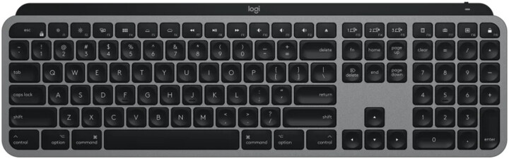 Logitech MX Keys MAC, černá/šedá