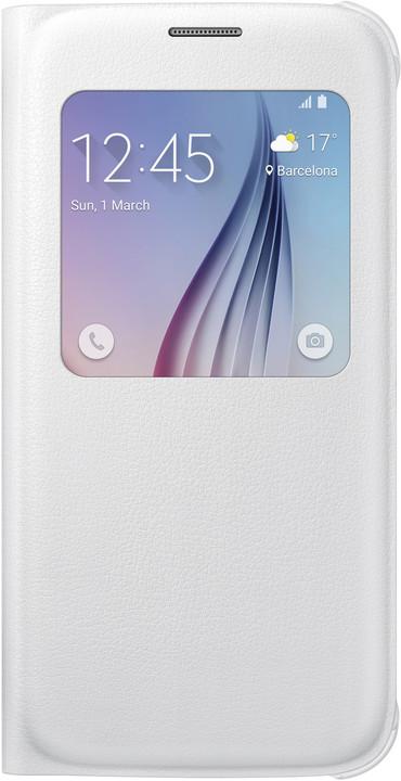 Samsung pouzdro S View EF-CG920P pro Galaxy S6 (G920), bílá