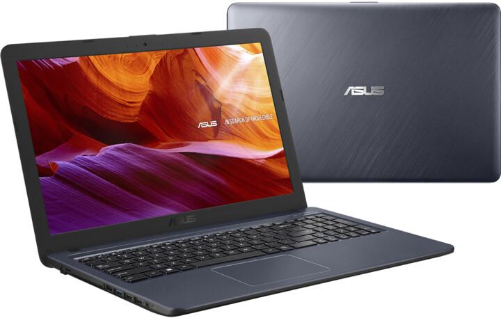 ASUS X543MA, šedá