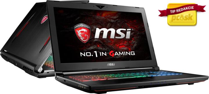 MSI GT62VR 6RE-052CZ Dominator Pro, černá