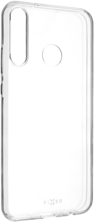 FIXED ultratenké TPU gelové pouzdro Skin pro Huawei P40 Lite e, 0.6 mm, čirá