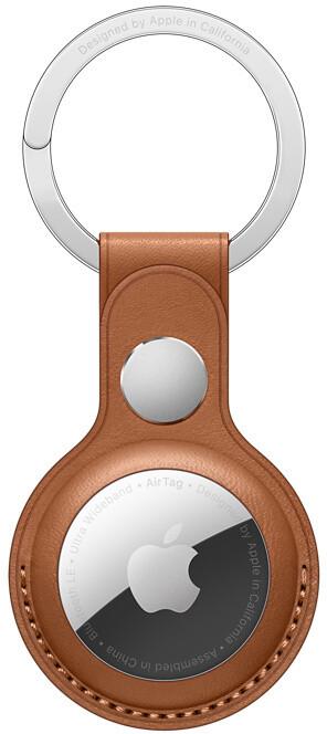 Apple klíčenka na AirTag, kožená, hnědá