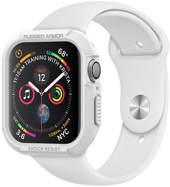 Spigen Rugged Armor Apple Watch 4 44mm, bílá
