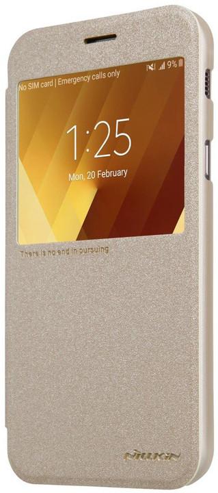 Nillkin Sparkle S-View pouzdro pro Samsung A320 Galaxy A3 2017 - zlaté
