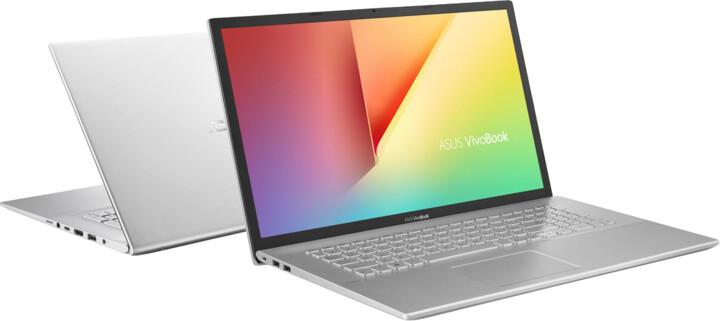 ASUS VivoBook 17 M712DA, stříbrná
