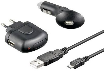 Goobay nabíječka + autonabíječka s konektorem micro USB