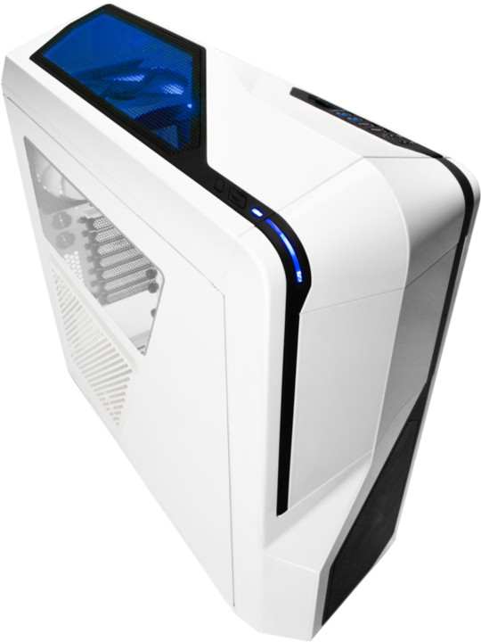 NZXT Phantom 410, bílá/modrá