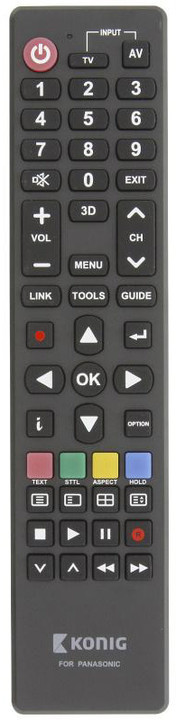 König univerzální dálkové ovládání pro televize Panasonic