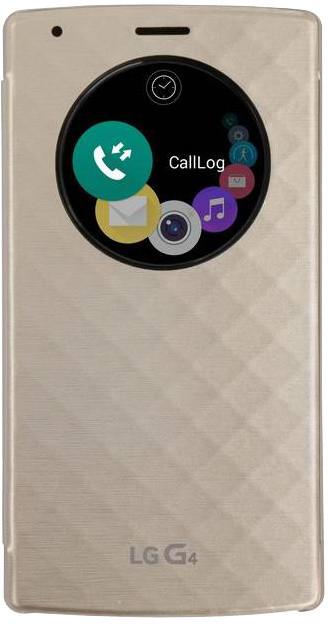 LG flipové pouzdro QuickCircle CVF-100 pro LG H815 G4, zlatá