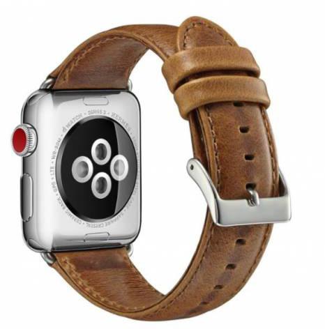 ESES kožený řemínek 42/44mm pro apple watch, světle hnědá