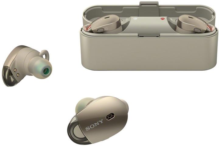 Sony WF-1000X, zlatá