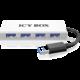 ICY BOX IB-AC6104, 4x USB 3.0, hliníkový, stříbrný