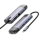 Mcdodo dokovací stanice 8v1, USB-C, USB, 2xUSB 3.0, HDMI 4K, LAN, čtečka SD, PD, 100W, šedá