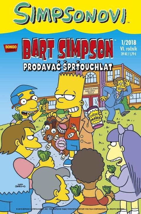 Komiks Bart Simpson: Prodavač šprťouchlat, 1/2018
