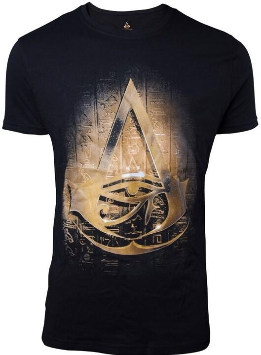 Tričko Assassin's Creed: Origins - Hieroglyphics Crest (XL)