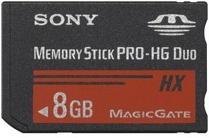 Sony Memory Stick Pro HX DUO MSHX8B 8GB