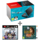 Nintendo New 2DS XL, černá/tyrkysová + Fire Emblem: Warriors + Layton's Mystery Journey  + Voucher Be a Gamer - 5x 100 Kč (sleva na hry nad 999 Kč)