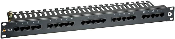 Solarix ISDN panel 25 x RJ45 1U SX25-ISDN-BK, černá