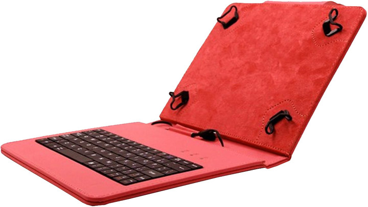 """C-TECH PROTECT NUTKC-02, pouzdro s klávesnicí pro 8"""", červená"""