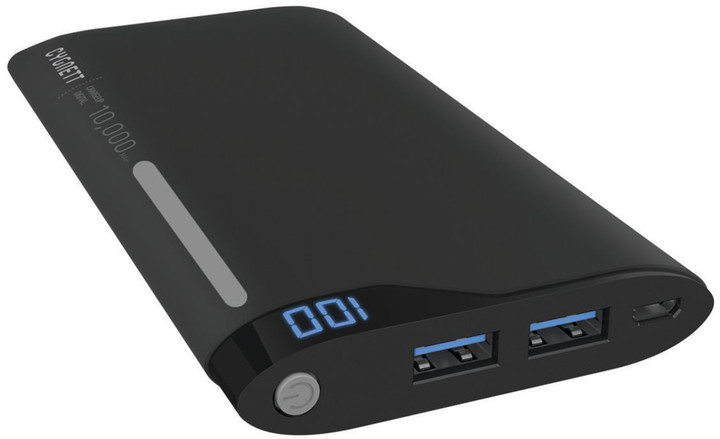 Cygnett Power Bank 10000mAh, black/grey