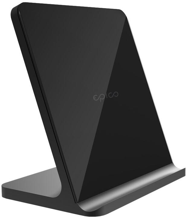 EPICO bezdrátový nabíjecí stojánek Wireless Stand PRO 15W, černá
