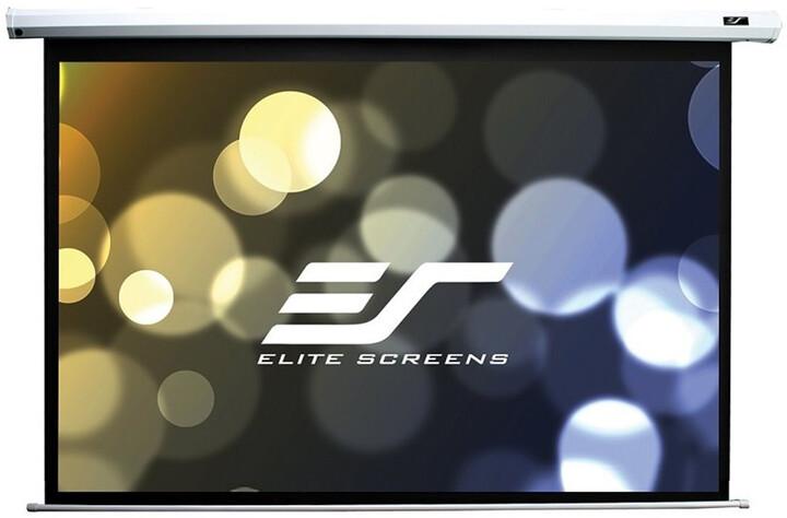 """Elite Screens plátno elektrické motorové 150"""" (381 cm)/ 16:9/ 186,9 x 332 cm/ case bílý"""