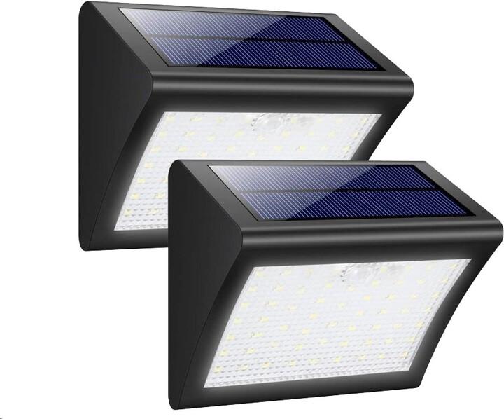 Viking venkovní světlo V60, LED, solární, s pohybovým senzorem, černá
