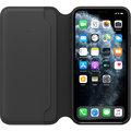 Apple kožené pouzdro Folio na iPhone 11 Pro Max, černá
