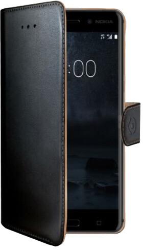 CELLY Wally pouzdro typu kniha pro Nokia 8, PU kůže, černé