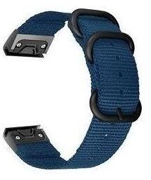 Tactical 676 nylonový řemínek pro Garmin Fenix 5X/6X Quick Fit, 26mm, modrá
