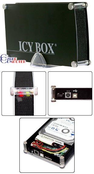 "RaidSonic Icy Box IB-351U-B černý USB, 3.5"" IDE"