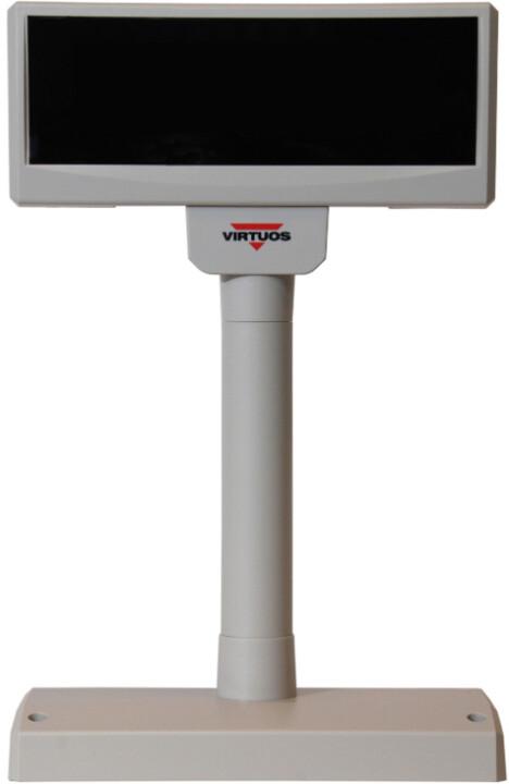 Virtuos FV-2029M - VFD zákaznicky displej, 2x20 9mm, serial (RS-232), 12V, béžová